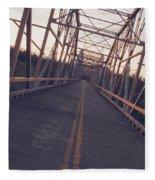 Old Knik Bridge 3 Fleece Blanket