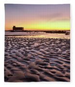 Old Lifesavers Building Covered By Warm Sunset Light Fleece Blanket