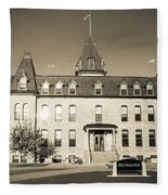 Old Main Sepia Fleece Blanket