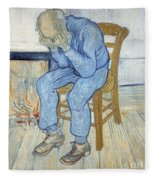 Old Man In Sorrow Fleece Blanket