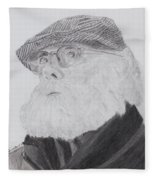 Old Man With Beard Fleece Blanket