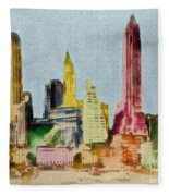 Old Manhattan Fleece Blanket