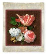 Old Masters Reimagined - Parrot Tulip Fleece Blanket