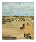 Old Mesilla Plaza Fleece Blanket