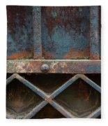 Old Metal Gate Detail Fleece Blanket
