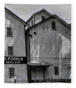 Old Mill Buildings Fleece Blanket