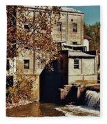 Old Mill In Autumn Fleece Blanket