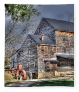 Old Mill Nelson County Virginia Fleece Blanket