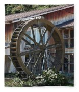 Old Mill Store Entry To Caverns Fleece Blanket