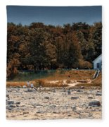 Old Mission Point Light House 01 Fleece Blanket