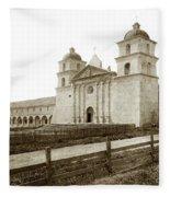 Old Mission Santa Barbara, Cal Circa 1895 Fleece Blanket