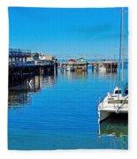 Old Monterey Wharf Fleece Blanket