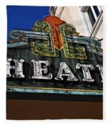 Old Movie Theatre Sign Fleece Blanket