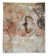 Old Mural Painting In The Ruins Of The Church Fleece Blanket