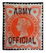 Old Orange Halfpenny Stamp  Fleece Blanket