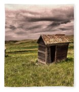 Old Outhouses Fleece Blanket