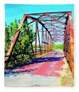 Old Ozark Trail Bridge Fleece Blanket