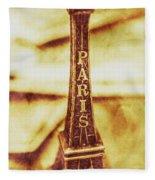 Old Paris Decor Fleece Blanket