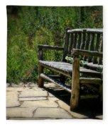 Old Park Bench Fleece Blanket