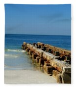 Old Pier Fleece Blanket
