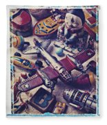 Old Plane And Other Toys Fleece Blanket