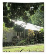 Old Plantation House Fleece Blanket