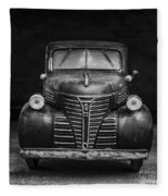 Old Plymouth Truck Square Fleece Blanket