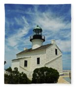 Old Point Loma Lighthouse Fleece Blanket