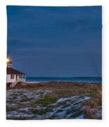 Old Port Boca Grande Lighthouse Fleece Blanket
