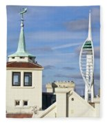 Old Portsmouth's Towers Fleece Blanket