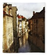 Old Prague Fleece Blanket