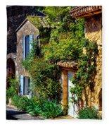 Old Provencal Village Street Fleece Blanket