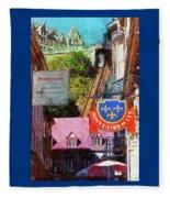 Old Quebec City Funicular Fleece Blanket