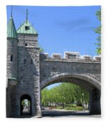 Old Quebec City Wall Quebec City 6358 Fleece Blanket