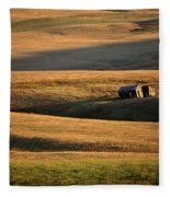 Old Ranch Buildings In Alberta Fleece Blanket