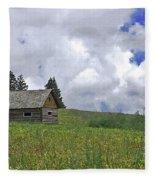 Old Ranchers Summer Cabin Redone Fleece Blanket