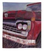 Old Red Fleece Blanket