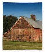Old Red Barn Palouse Wa Dsc05067 Fleece Blanket