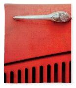 Old Red Car Fleece Blanket