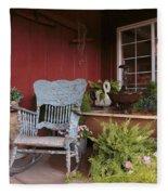 Old Rockin' Chair Fleece Blanket