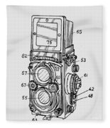 Old Rollie Vintage Camera T-shirt Fleece Blanket