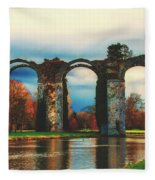 Old Roman Aqueduct Fleece Blanket