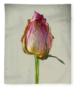 Old Rose On Paper Fleece Blanket