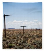 Old Route 66 #4 Fleece Blanket