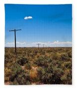 Old Route 66 #5 Fleece Blanket