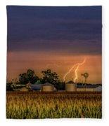 Old Rte 66 Lightning 8 48 16 P Fleece Blanket