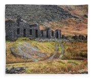 Old Ruin At Cwmorthin Fleece Blanket