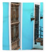 Old San Juan House In Historic Street In Puerto Rico Fleece Blanket