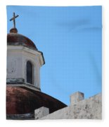 Old San Juan Puerto Rico Downtown Church Fleece Blanket