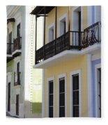 Old San Juan Puerto Rico Downtown  Fleece Blanket